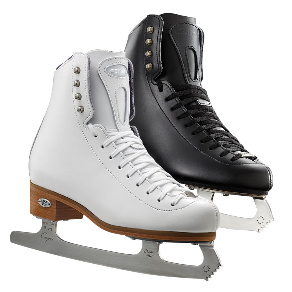 Riedell Model 223 Stride Skate Set - Black and White