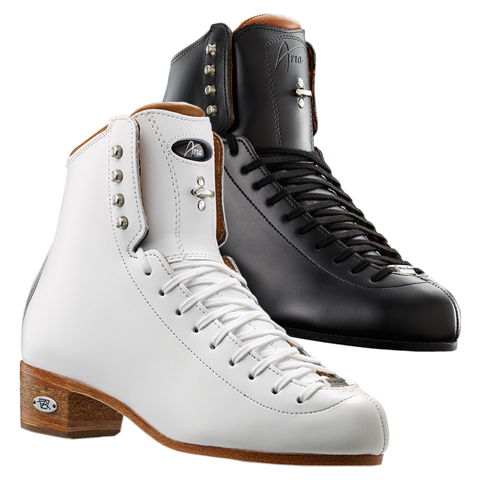 Riedell Model 3030 Aria (Boot Only) - Black and White