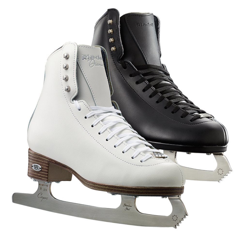 Riedell Model 33 Diamond Jr. Skate Set - Black and White