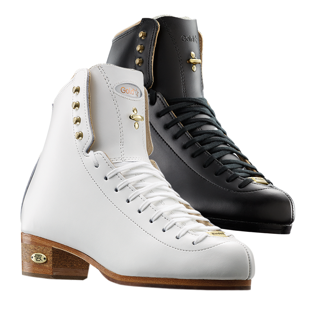 Riedell Model 75 Gold Star (Boot Only) - Black and White
