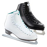 Riedell Model 10 Opal Jr. Ice Skate Set - White and Black