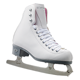 Riedell Model 114 Pearl Ice Figure Skate Set - White