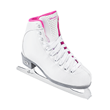 Riedell Model 18 Sparkle Jr. Skate Set with Spiral Stainless Blade - White and Pink