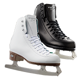 Riedell Model 19 Emerald Ice Figure Skate Set with Luna Blade - Black and White