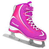 Riedell Model 615 Soar Jr. Skate Set with Spiral Stainless Blade - Purple with Pink Trim