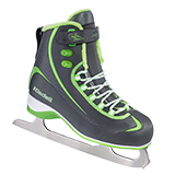 Riedell Model 625 Soar Skate Set with Spiral Stainless Blade - Charcoal with Lime Trim