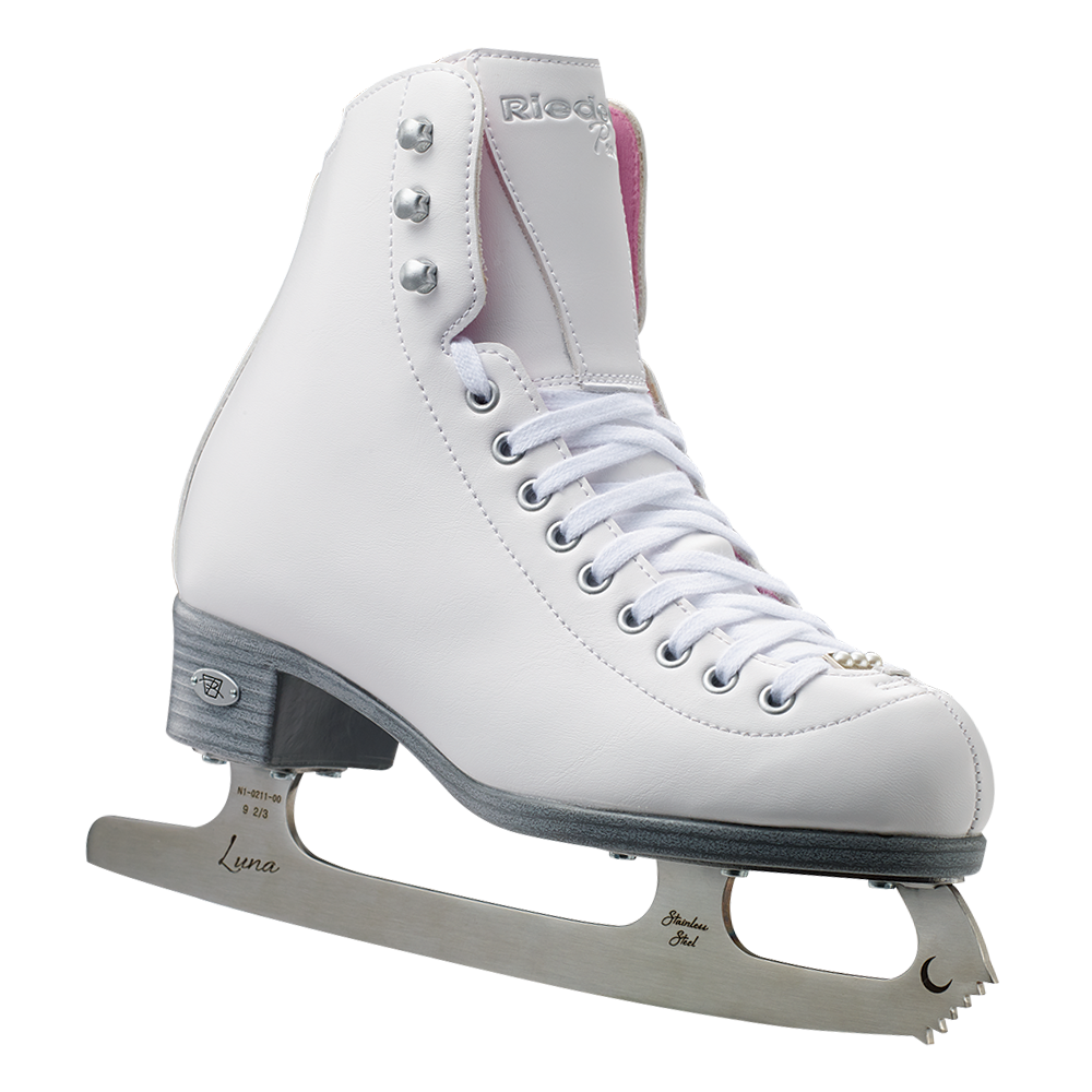 Riedell Model 14 Pear Juniorl Ice Figure Skate Set - White